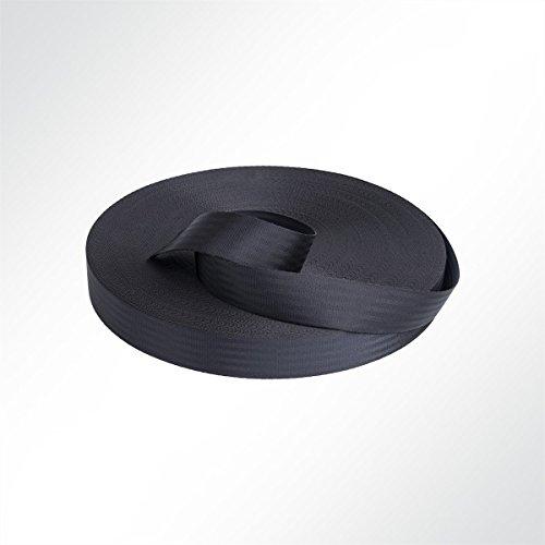 LYSEL® Sicherheitsgurtband Pkw Autogurt Design 47mm 2650 daN Schwarz Meterware