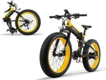 Coolautoparts Bicicleta Eléctrica Plegable 500W 40km/h Ruedas Anchas 26 x 4 Pulgadas Bateria Removible 48V Shimano 27 Velocidades Bici de Montaña/Ciudad/Playa/Nieve/Todo Terreno [EU Stock]