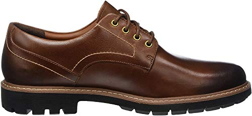 Clarks Herren Batcombe Hall Derbys, Braun (Dark Tan Lea), 45 EU
