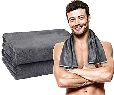 VIVOTE Super Absorbent Microfiber Gym Towels for Sweat, 16 Inch X 32 Inch, Ultra Soft Sports Towels Fast Drying Workout Towels for Men and Women Travel Gym Camping Hiking Fitness Yoga Beach
