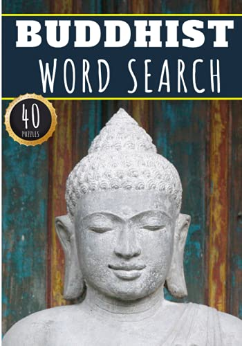 Buddhist Word Search: 40 Puzzles with Word Scramble | Challenging Puzzle Book For Adults, Kids and Seniors | More Than 300 Zen Words on Buddhist ... Vocabulary | Large Print Gift For Buddhists