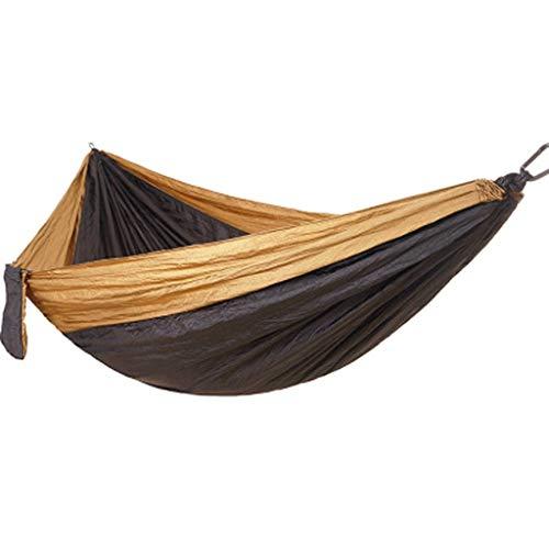 GCX Sólido Hamaca al Aire Libre antivuelco for Adultos, Adultos, Dormir en casa Dormitorio de Estudiantes balcón Parque Columpio Hamaca Relajarse (Color : Black)