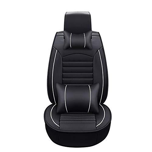 HRFHLHY Schmutzige Auto-Sitzkissen 5 Sitze Verschleißfeste Leder-Auto-Sitzabdeckung Kompatibel mit Jaguar,Schwarz,F PACE
