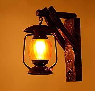Pastoral Retro Solid Wood Personalized Creative Chinese Antique Lights