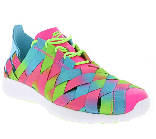 Nike Women's W Juvenate Woven PRM, GAMMA BLUE/PINK BLST-ELCTRC GREEN, 8 US
