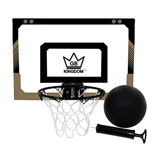 Kingdom GB Hyperdunk Portable Over The Door Mini Basketball Hoop Set With Ball &...