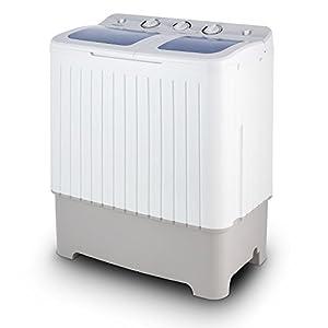 OneConcept Ecowash XXL - Mini Machine à Laver, Essoreuse, Capacité de Lavage de 6,8kg, 2 programmes, Faible Bruit, Faible consommation énergétiquue, Faible consommation d'eau, Blanc