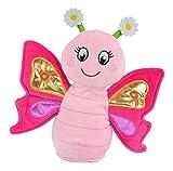 Kögler- Mariposa Sweetie de Laber de Aprox. 24 x 22 x 9 cm, Juguete de Peluche con función de grabación y reproducción, despeja Todo y Mueve el Cuerpo, Ideal niñas, como Regalo, Color carbón (75947)