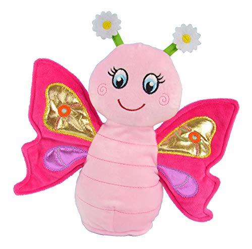 Kögler 75947 - Laber Schmetterling Sweetie, Labertier mit Aufnahme- und Wiedergabefunktion, plappert alles witzig nach und bewegt sich, ca. 24 cm groß, ideal als Geschenk für Jungen und Mädchen