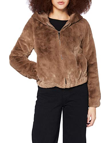Only ONLMALOU Faux Fur Hood Jacket CC OTW Chaqueta, Coconut Toasted, L para Mujer