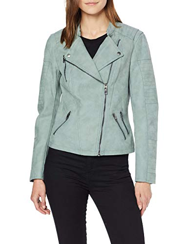 Only Onlava Faux Leather Biker Otw Noos Chaqueta, Verde (Chinois Green Chinois Green), 42 para Mujer