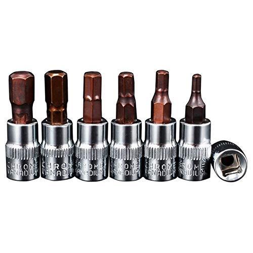 W-SHTAO Drill Bits 21pcs Hex Bit Socket Hex Key Ratchet Drive Set 1/4 Inch Socket Wrench Head Ph1-Ph3 T10-T40 Hw3-Hw8 S2 Steel Bits