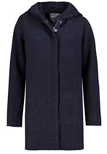 Eight2Nine Damen Wollmantel mit Kapuze und Reißverschluss Dark-Blue S