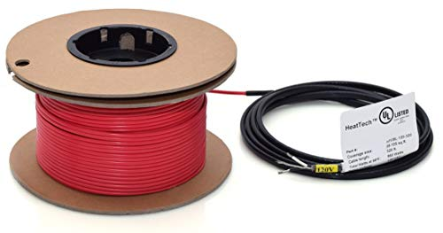 HeatTech 18-35 sqft Electric Radiant In-Floor Heating Cable System, 120V -