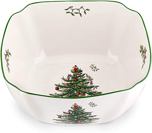Spode Christmas Tree Square Bowl, Large