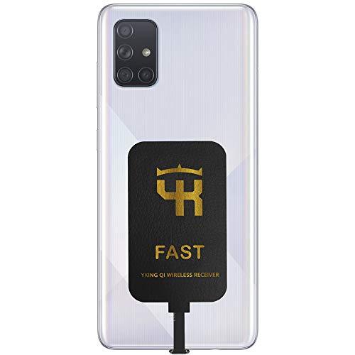 2000 mAh QI Empfänger Typ C für Samsung Galaxy A72 A71 A70 A60 A52 A51 A50 A90 A42 A41 A40 A30 A20 A12 A11 A10e - Wireless Charging Empfänger - Samsung Galaxy Typ C QI Adaptor - Qi Empfänger USB C