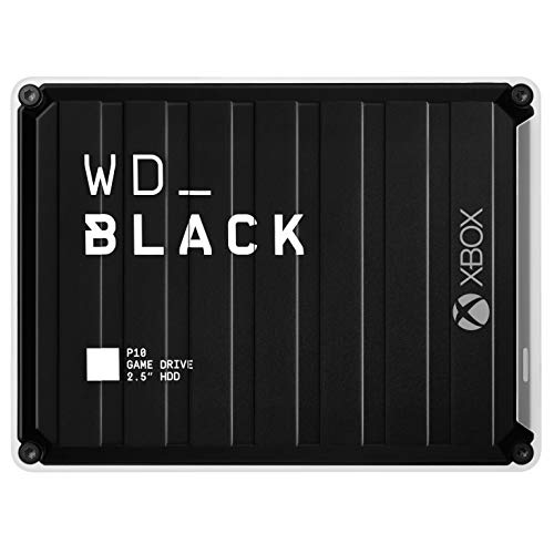 WD_BLACK 5 TB P10 Game Drive for Xbox, portabler Speicher mit 1 Monat Xbox Game Pass