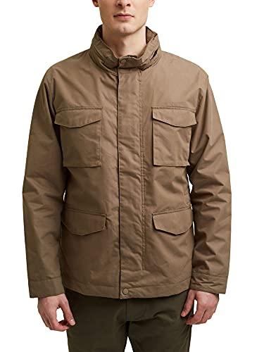 Esprit 021ee2g308 Chaqueta, Color marrón y Gris, XL para Hombre