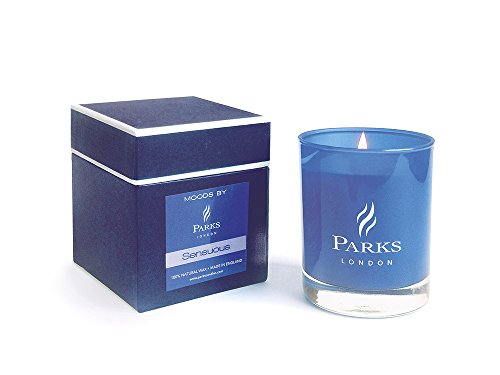 Parks London Duftkerze Fresh Green Citrus, Wild Grasses & Lemongrass blau