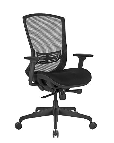 Global Office Furniture Mesh Executive Chair, Black