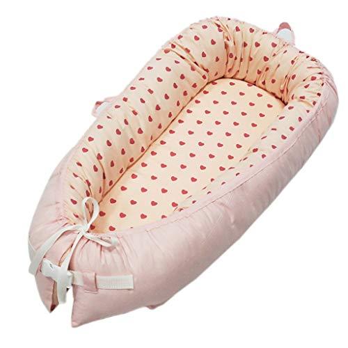 Vaina Recién Nacidos Cama Lounger Para Bebés Nido Algodón Portátil Cuna por Habitación Viaje 0-18 Meses Bed1030 (Color : B)