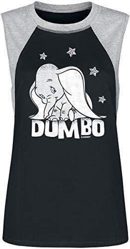Dumbo Balloons mouwloos Raglan Girl shirt zwart/grijs gemêleerd