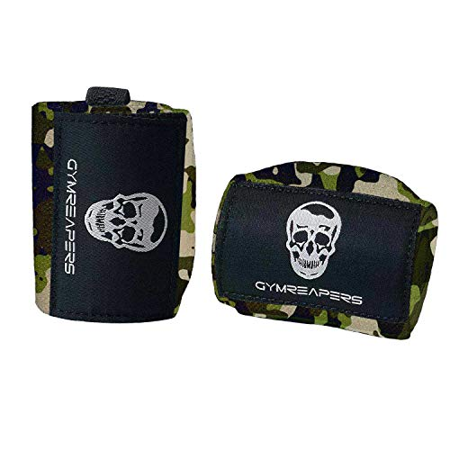 Gymreapers Weightlifting Wrist Wraps (Competition Grade) 18' Professional Quality Wrist Support with Heavy Duty Thumb Loop - Best Wrap for Powerlifting, Strength Training, Bodybuilding(Camo,18')