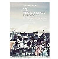 12年奴隷クラシック映画映画ポスターヴィンテージレトロ装飾壁キャンバス絵画ホームポスターアートバーの装飾-50x70cmフレームなし