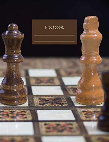 "Notebook: Composition Notebook. College ruled with soft matte cover. 120 Pages. Perfect for school notes, Ideal as a journal or a diary. 9.69"" x 7.44"". Great gift idea. (Chess pieces cover)."
