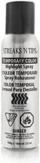 Streaks 'N Tips Midnight Black Temporary Spray-on Hair Color, 3.5 oz