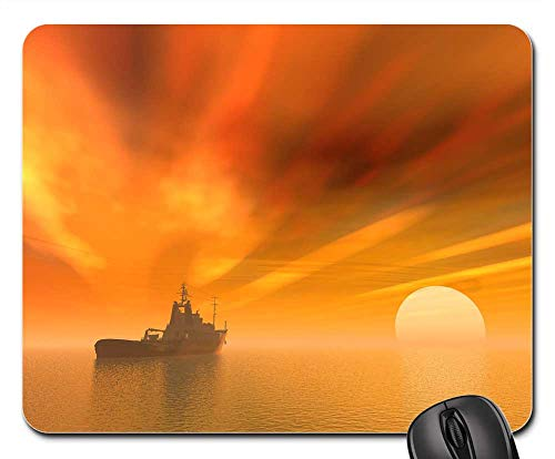 Mouse Pad - Sunset Dawn Water Dusk Evening Ship Boat Sailing