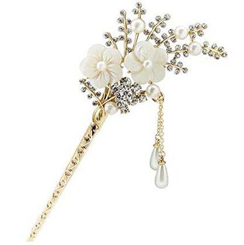 Style Classique Européen Fleurs de Cerisier Épingle à cheveux Décoration de cheveux en métal