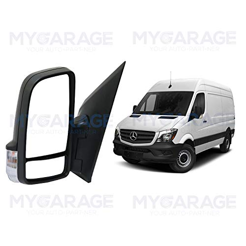 Replacement Power Mirror W/Signal for Dodge Freightliner Mercedes Benz Sprinter 2006-Current time 9068106016 9068106116 (Driver (LH) Side)