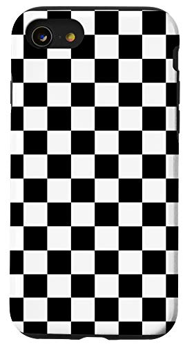 iPhone SE (2020) / 7 / 8 Black White Checkerboard Cool Gingham Checkered Lover Gift Case