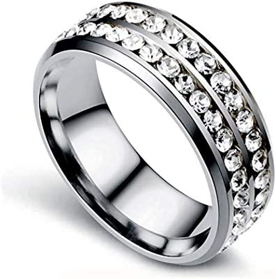 VanSP Fashion Titanium Steel Double Row Drill Ring Micro Magnetic Weight Loss Ring Fat Burning product image