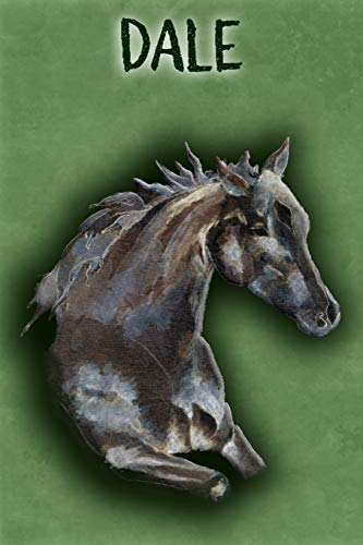 Watercolor Mustang Dale: College Ruled | Composition Book | Diary | Lined Journal