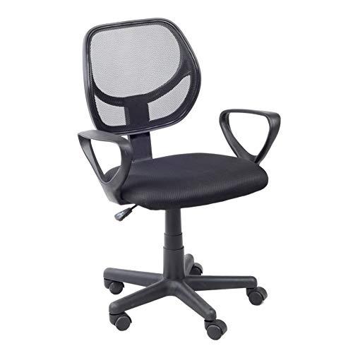 GOLDFAN Bürostuhl Schreibtischstuhl Computerstuhl Drehstuhl Chefsessel Ergonomisch Stuhl Höhenverstellbar Sitzfläche Mesh Schwarz