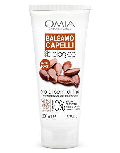 Omia Balsamo per Capelli Eco Bio con Olio di Semi di Lino, Crema per Capelli Fragili, 200 ml