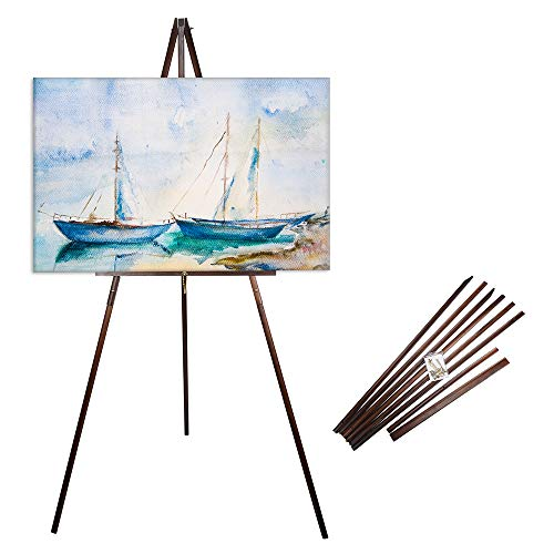 "CONDA 66"" Wooden Tripod Display Floor Easel & Artist Easel, Adjustable..."