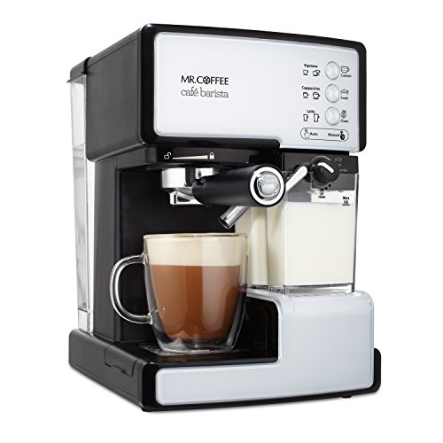 Mr. Coffee Cafe Barista Espresso and Cappuccino Maker, White