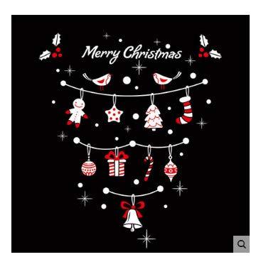 Wandaufkleber Weihnachten Glas Pull Flag Sticker Shop Hintergrund Klassenzimmer Tür Und Fenster Dekoration Aktivität Aufkleber
