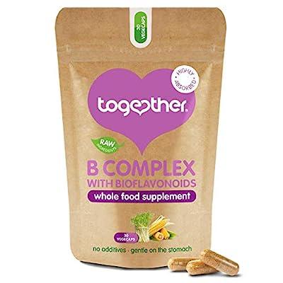 B-Vitamin Complex – Together Health – Whole Food Nutrients - 8 Essential B Vitamins - Vitamin C – Vegan Friendly – Made in The UK – 30 Vegecaps