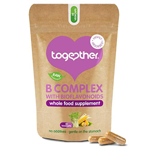 B-Vitamin Complex – Together Health – Whole Food Nutrients - 8 Essential B Vitamins - Vitamin C – Vegan Friendly – Made in The UK – Pack of 3 – 90 Vegecaps