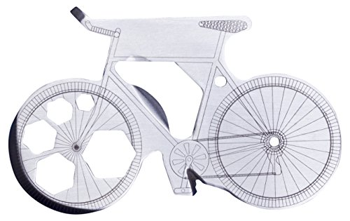 Thumbs Up Biketool – 13 in 1 Multitool im Fahrrad Design aus Edelstahl – silber