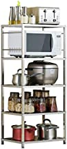 Home Living Museum/Kitchen Racks Stainless Steel Storage Rack Balcony Bedroom Floor Multi Layer Microwave Storage Consolid...