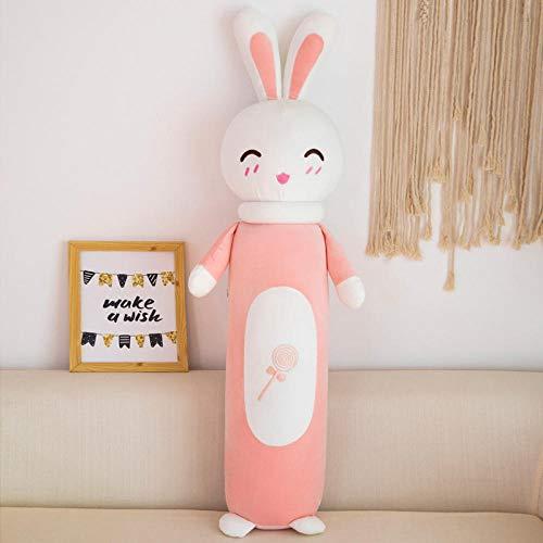 RecordeverSchattige Konijn Pop Knuffel Cadeau Lui Slapen Groot Kussen-gelukkig Model (diep Roze) _105cm