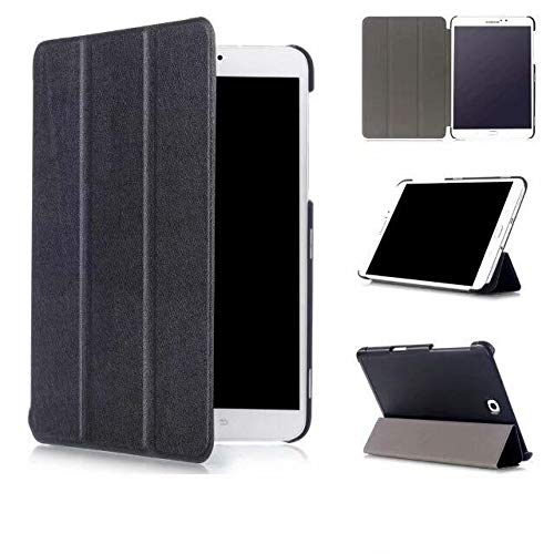 Skytar Cover per Tab S2 8 pollici,Copertura per Samsung Tab S2 8  ,Folio Case Cover con Supporto Custodia in Pelle per Samsung Galaxy Tab S2 8.0 Pollici T710   T715   T719 Tablet,Nero