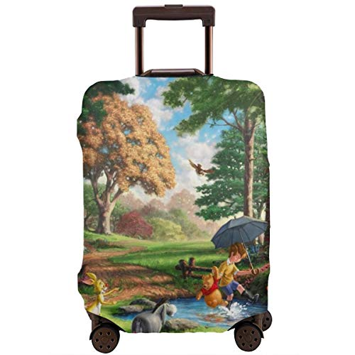 Winnie The Pooh Luggage Cover, Baggage Protective, Travel Elastic Suitcase Protecter Personalized Invisible Zipper Travel Suitcase Protector 4 Sizes £¨18-32 Inch£M