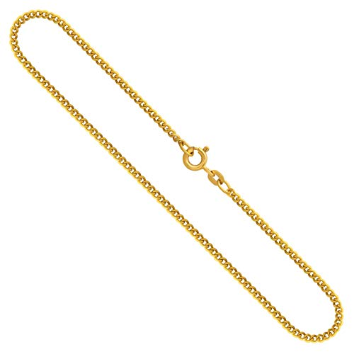 Gouden ketting, pantserketting plat geelgoud 585/14 K, lengte 36 cm, breedte 2,1 mm, gewicht ca. 5.1 g, NIEUW