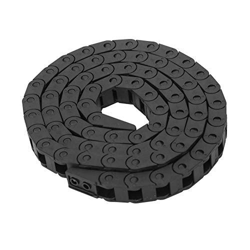 Catena portacavi in nylon con ponte nero 7 x 7 mm per stampante 3D Macchina utensile CNC, macchinari per la pietra, macchinari per il vetro
